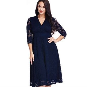 Dresses & Skirts - Womens Plus Size Lace Bridal Formal Skate Dress 24
